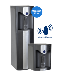 """Image of our Water Cooler """"Titan Contactless"""", featuring an infrared sensor for contactless dispensing"""
